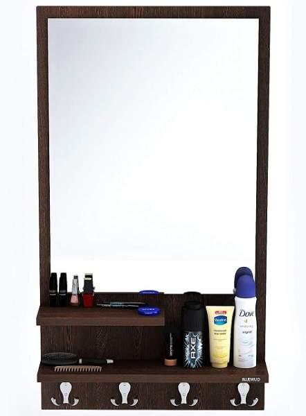 simple wood frame mirror