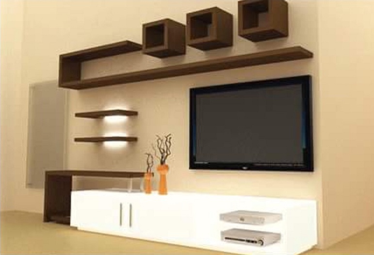 modern TV Showcase Designs