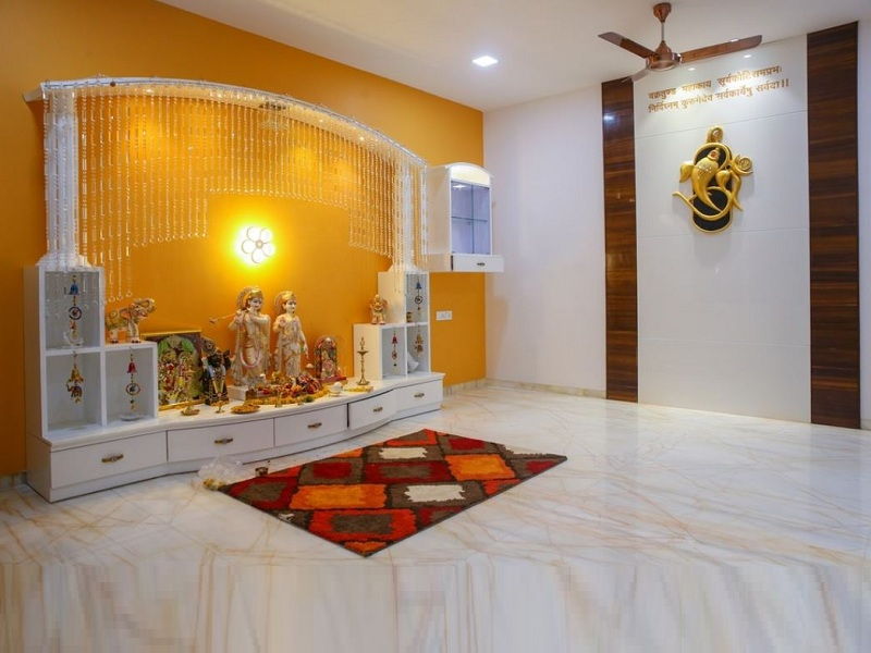 pooja room colour ideas