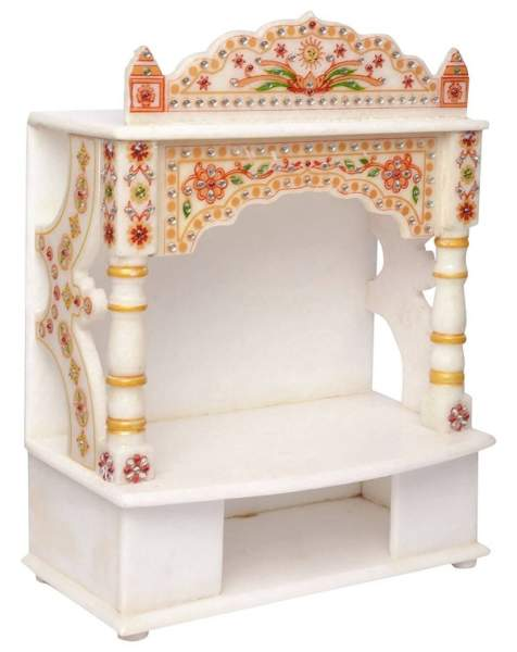 10 Best Pooja Room Tiles & Marble Designs With Pictures