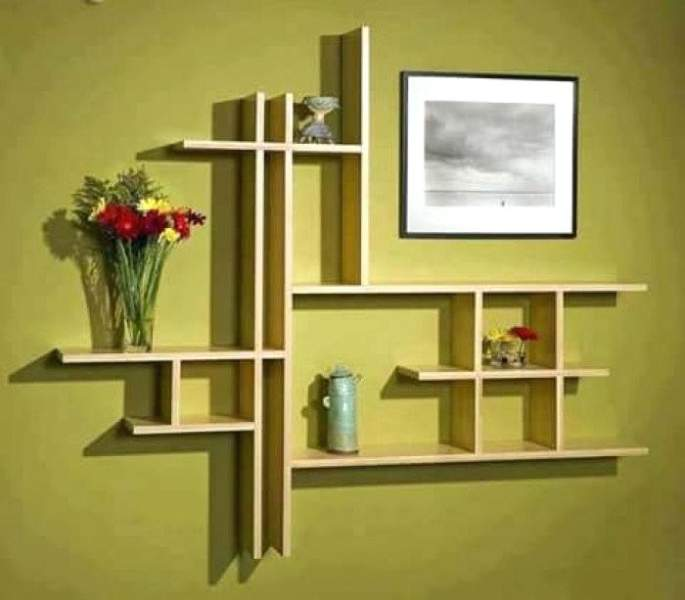 10 Simple & Latest Wall Showcase Designs With Pictures ...