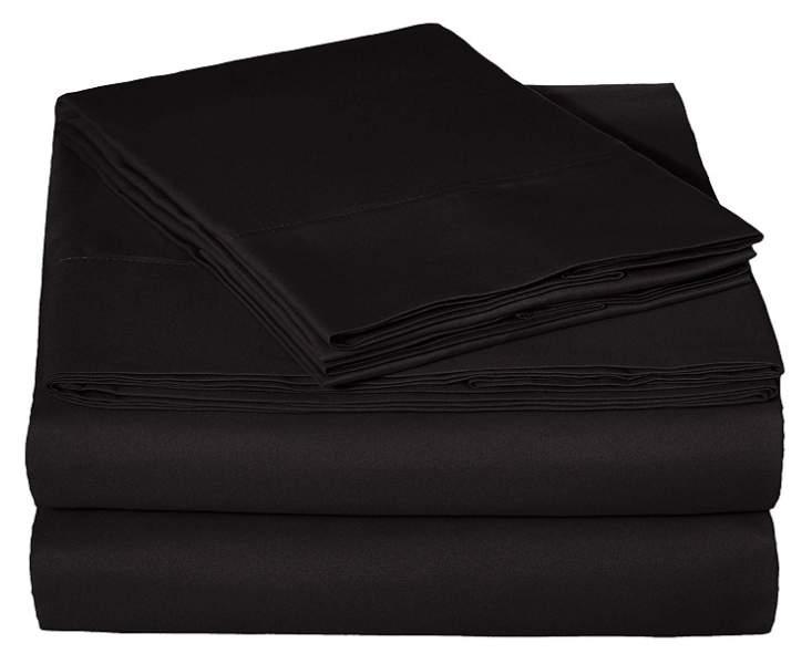 black bed sheets full