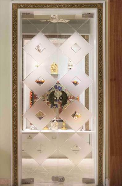 Best Pooja Door Glass Designs With Pictures