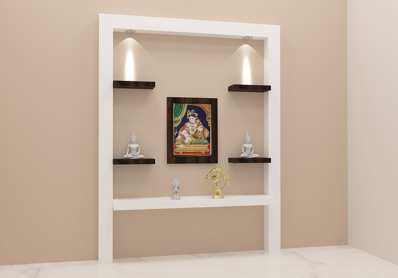 Pooja Stand Designs Images : Latest best pooja room designs with pictures in