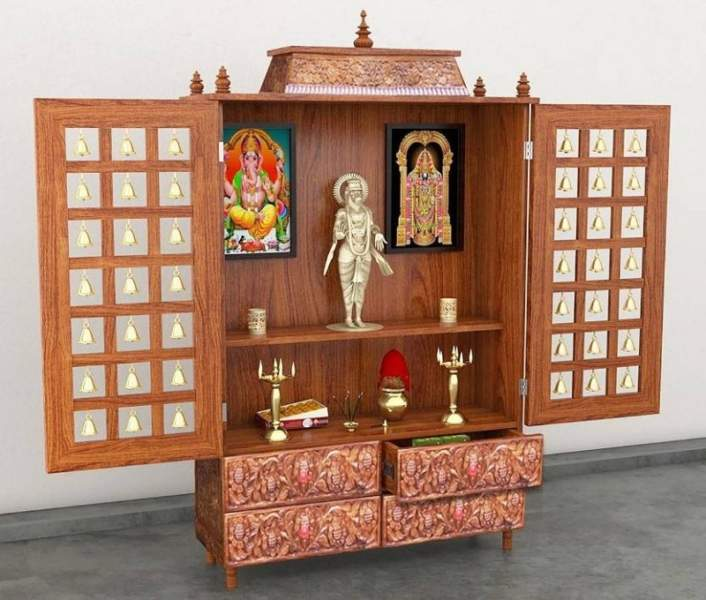 Pooja Stand Designs Images : Simple latest pooja room designs in wood styles at life