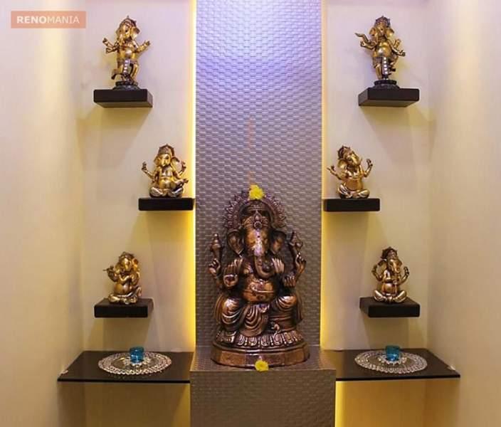 Pooja Room Designs In Living Room: 10 Simple & Modern Pooja Room Designs In Apartments