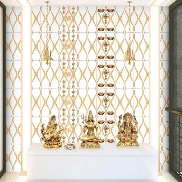 Latest Pooja Room Tiles & Marble Designs With Pictures