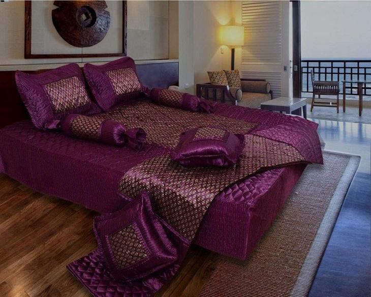 Simple silk bed sheet designs