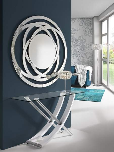 mirror at dining area