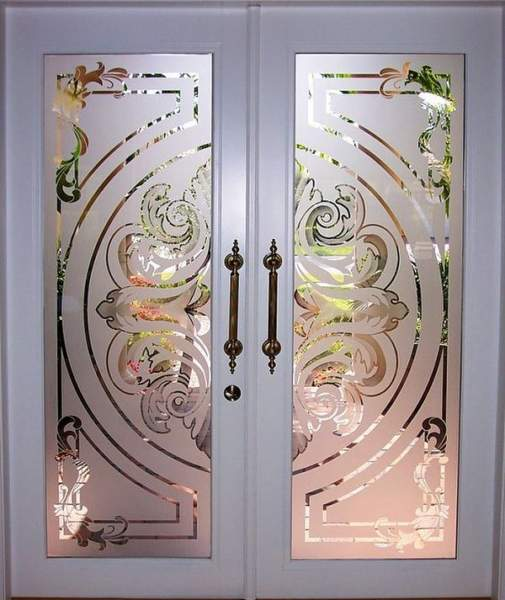 pooja door with glass designs