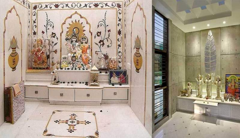 10 Latest Pooja Room Tiles Amp Marble Designs With Pictures