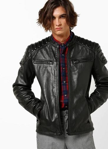 Superdry Paneled Leather Jacket