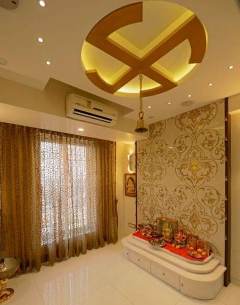 10 Best Pooja Room False Ceiling Designs With Pictures