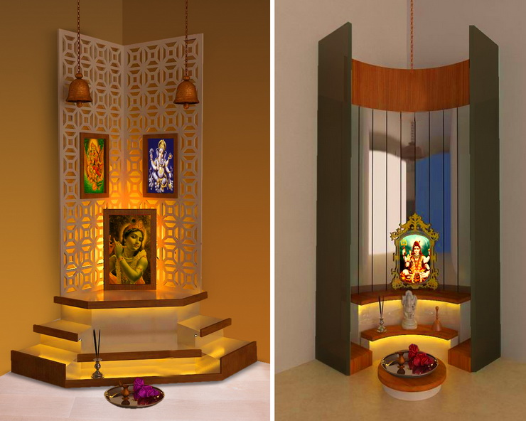 modern pooja room apartments