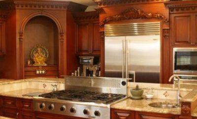 kitchen pooja room designs