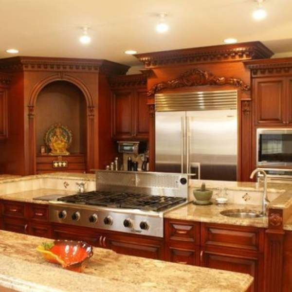 pooja room in kitchen as per vastu