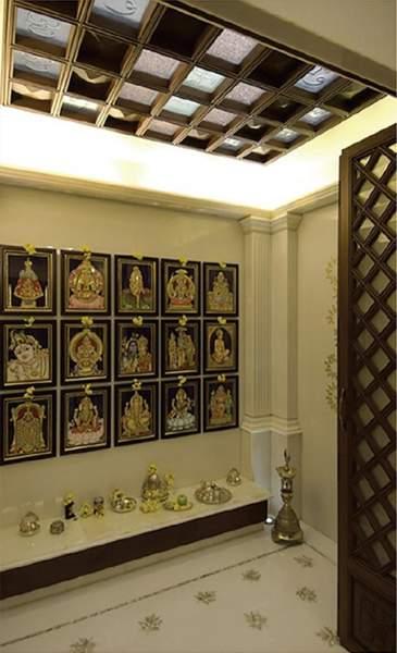 false ceiling for pooja room