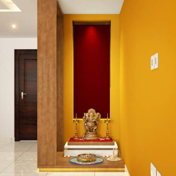 Latest Pooja Room Designs In Wood