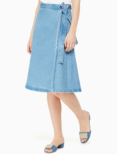 2b1ee7be98 This evergreen fashion is back with the denim wrap skirt variant as well.  This plain denim can be styled in several ways with upper wear and ...