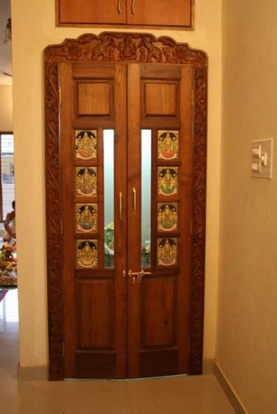 glass painting designs for pooja room doors