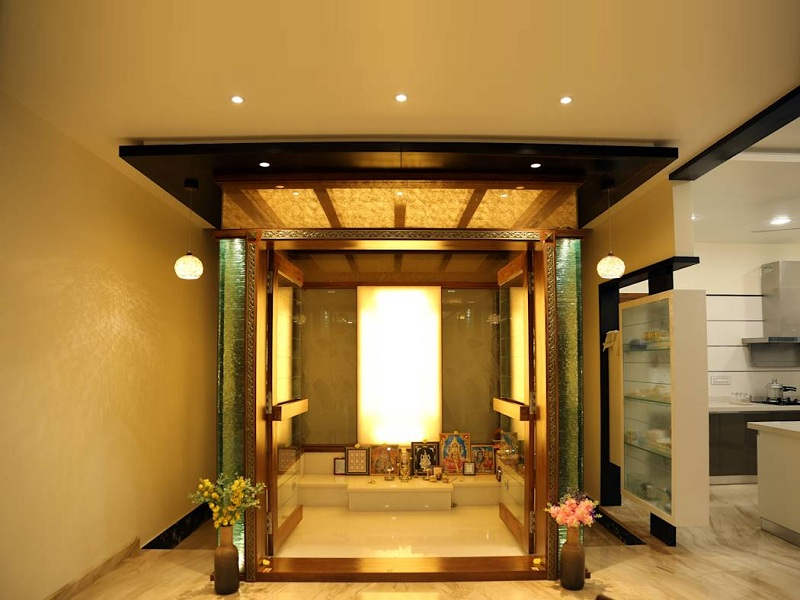 pooja room ceiling designs