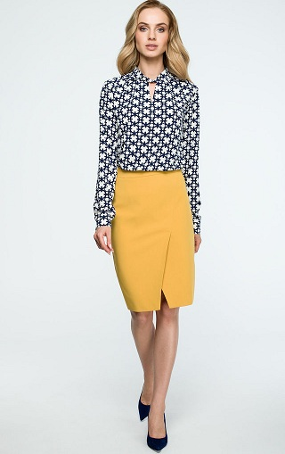 bdaf5aa875 Ever wondered about a wrap pencil skirt pattern? This is a new trend which  is taking over the fashion market. This bright yellow pencil wrap skirt ...