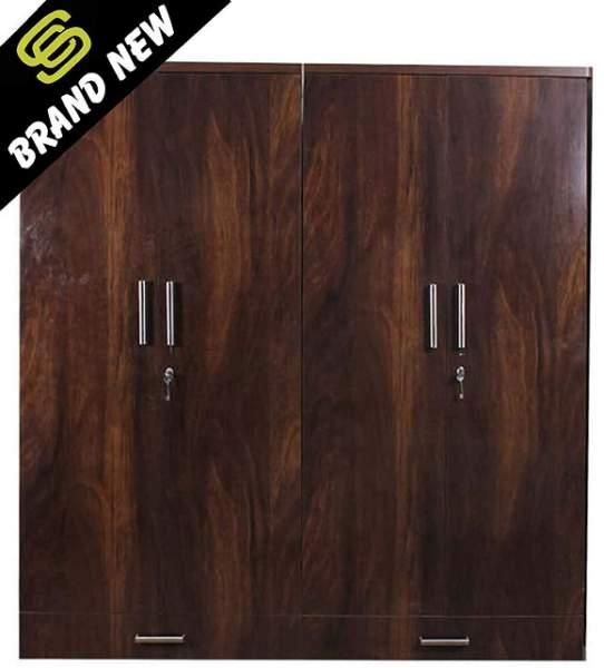 stylish wooden wardrobe