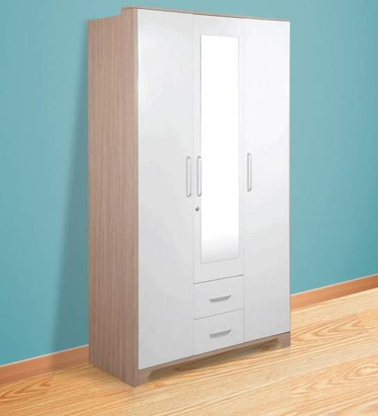 white clothes wardrobe