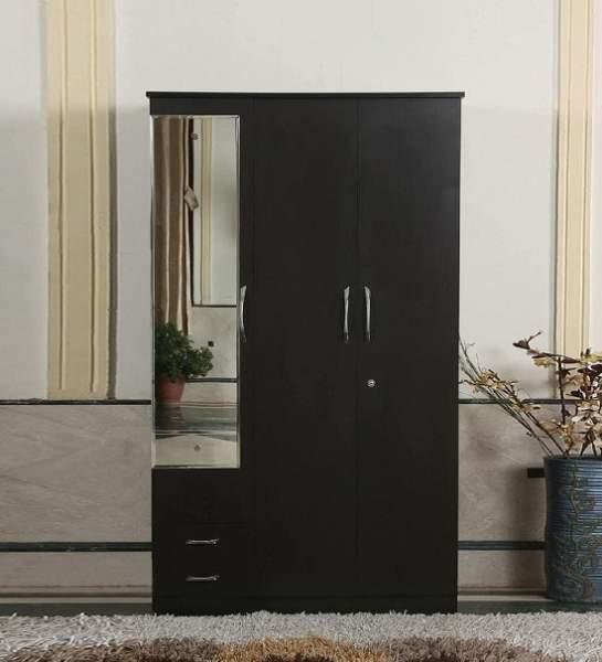 wardrobe design with mirror