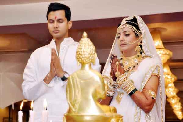 North Indian Buddhist Bridal Makeup