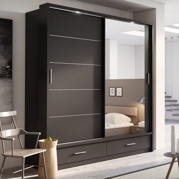 10 Simple & Modern Sliding Wardrobe Designs With Pictures