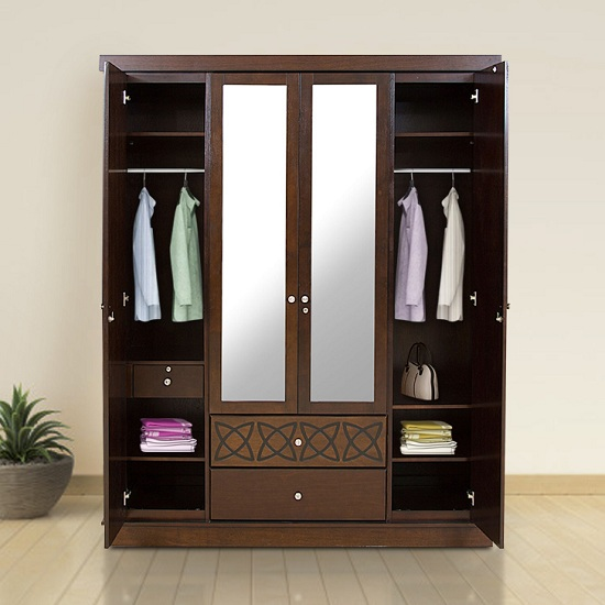 Modern 4 Door Wardrobe Designs