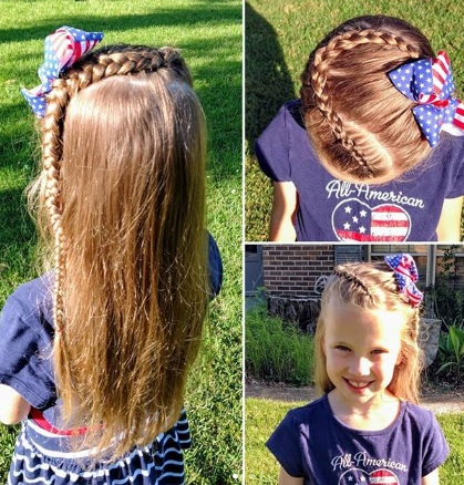 Braid Streaks Hairstyle for School Girls