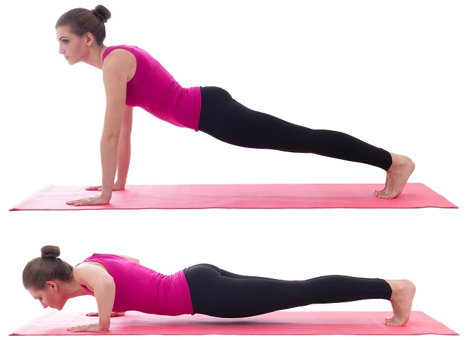 Chest Push-Ups To Improve Breast Size