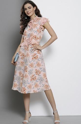 Floral A Line Summer Dress