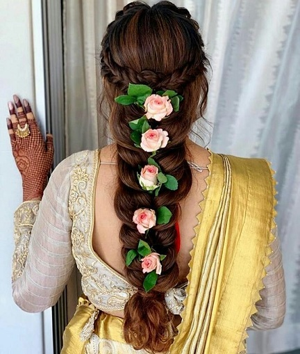 9 Latest Curly Hairstyles for Saree and Lehenga in 2019  Styles At Life