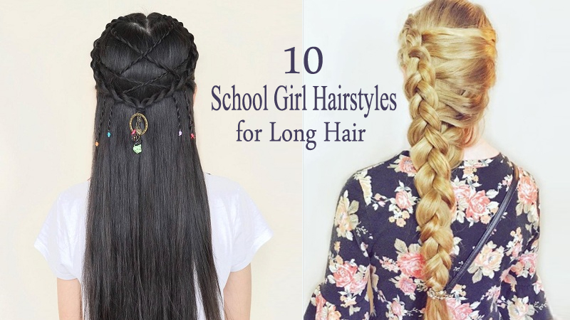 10 Cute and Easy School Girl Hairstyles for Long Hair ...