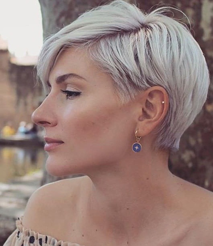 Short Side Parted Haircut