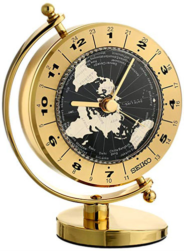 Desk and Table World Time Seiko Clock