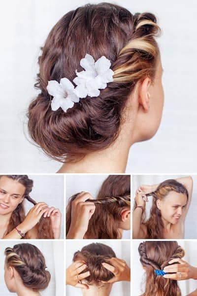 Floral Look with Medium Hairstyles