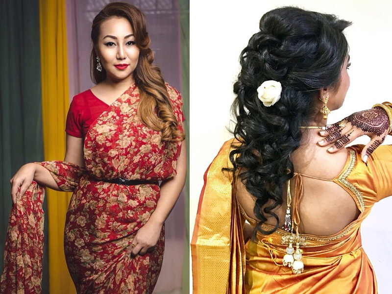 12 Best and Latest Hairstyles for Silk Saree with Images | Styles At Life