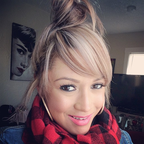 High Bun with Smooth Bangs Style