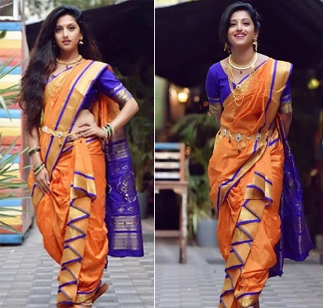 Long Hair Style with Traditional Saree