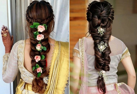 Loose Braided Style with Hair Accessories