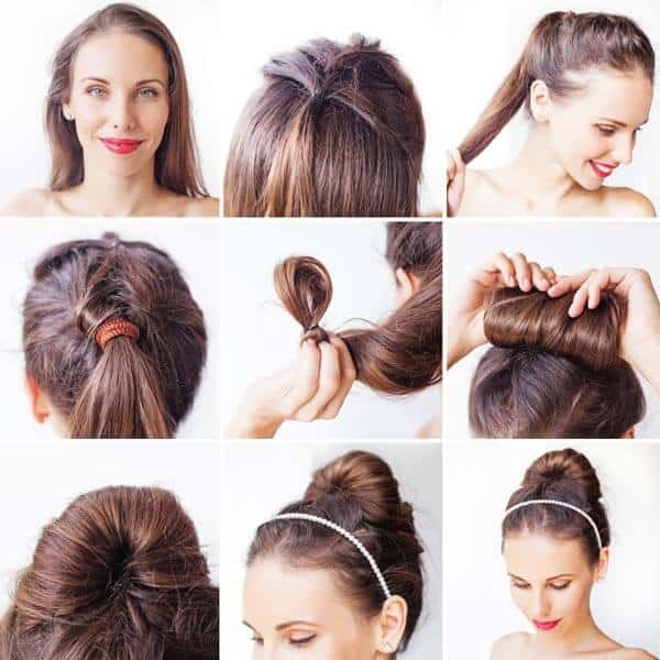 Rolled Bun for Layered Hairstyles