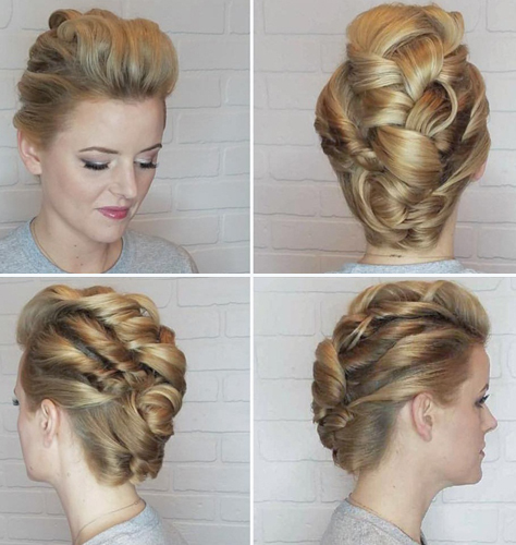 Rolled Up Bun Formal Style