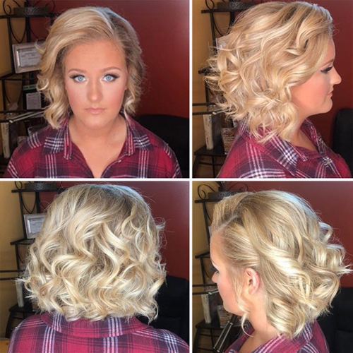 Simple Curly Style for Simple Woman