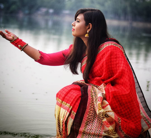 Traditional Open Style with Saree