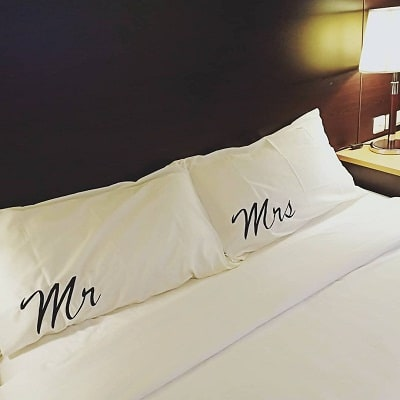 five year anniversary gift-Couple pillowcases