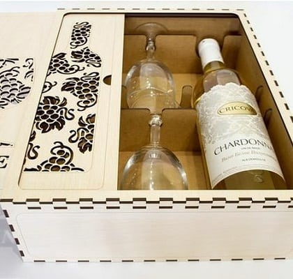 wine box-five year anniversary present